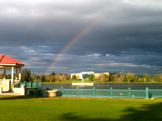 Midday rainbow!