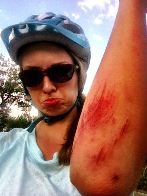 Mid-week mountain biking crash at Bear Creek Lake